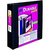 Avery Durable View Binder with 2-Inch Slant Ring, Holds 8.5 x 11-Inch Paper, Black, 1 Binder (17031)