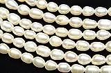 【 福縁閣 】淡水真珠パール ライス ホワイト 4~5mm 1連(約35cm)_R1922-4/A4-4 天然石 パワーストーン ビーズ