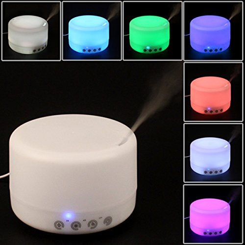Origlam® 500Ml Colorful Led Touching Switch Humidifier 2.4Mhz Ultrasonic Aroma Essential Oil Diffuser Air Humidifier Ultra Silence Humidifier