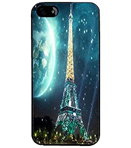 PrintDhaba Tower D-2848 Back Case Cover for APPLE IPHONE 5 (Multi-Coloured)
