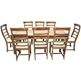 Woodpecker Sydney 8 Seater Dining Set (Matt Finish, Teak)
