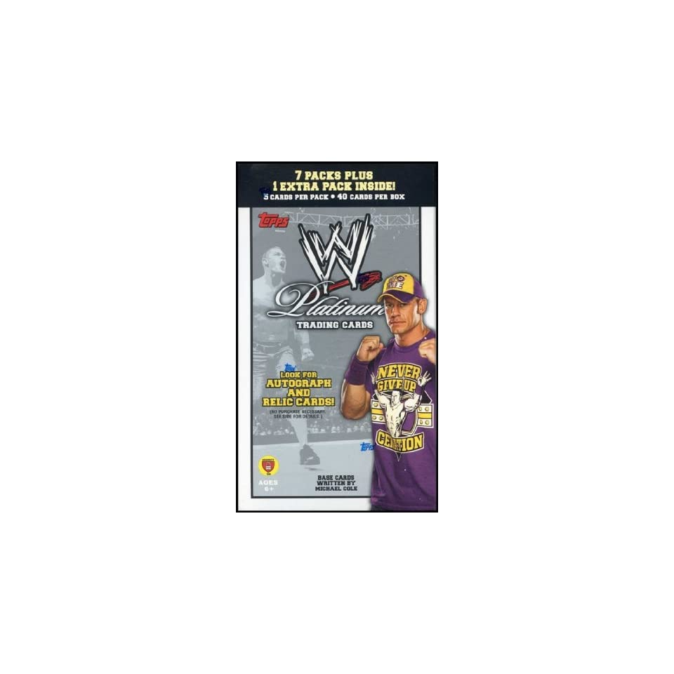 Topps WWE Platinum Trading Cards Value Box
