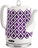 BELLA 14077 Ceramic Ikat Kettle, Purple