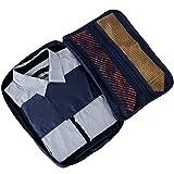 出張時 荷物整理に! 収納ケース ガーメントケース ガーメントバッグ アレンジケース 出張 旅行襟つぶれ・シワ防止 ネクタイ ワイシャツ 収納ケース 出張のあるビジネスマンへ ブルー