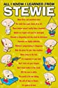 Family Guy All I Know I Learned From Stewie New 24x36 Poster