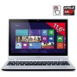 Acer Aspire V5-122P 11.6-inch Touchscreen Laptop (Silver) - (AMD A4 1GHz, 4GB RAM, 500GB HDD, LAN, WLAN, BT, Webcam, Integrated Graphics, Windows 8)