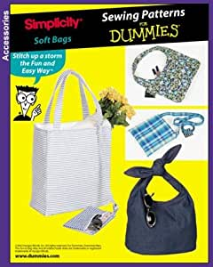 Amazon.com: Simplicity 7161 Sewing Patterns for Dummies SOFT BAGS / Purses in...