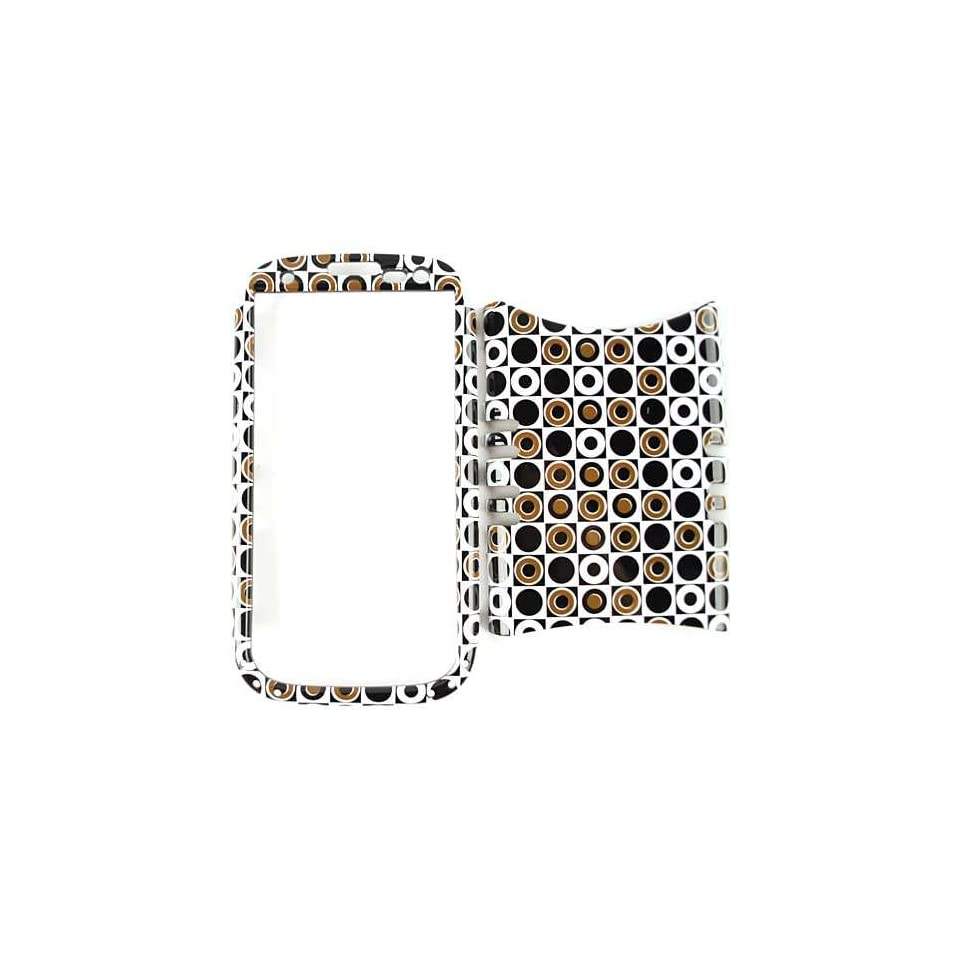 Cell Armor I747 RSNAP TP1274 Rocker Snap On Case for Samsung Galaxy S3 I747   Retail Packaging   Black/Dark Green Polka Dots in Square
