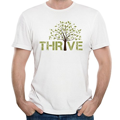 Men's Casting Crowns Thrive Album Green Tree Tshirts White (Casting Crowns Tickets compare prices)