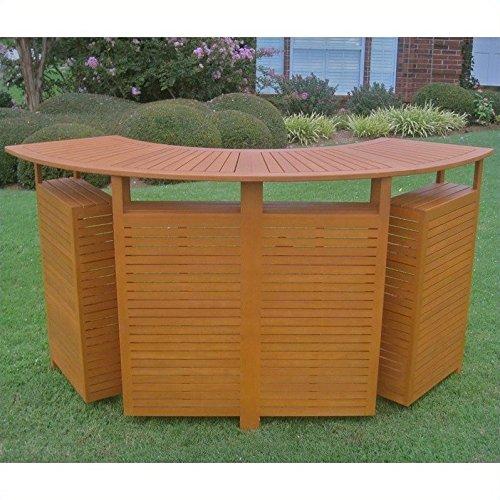 Balau Outdoor Wood Folding Bar Table (Balau Wood compare prices)