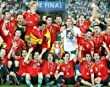 2008 Euro Champs Spain National Team 8x10 Photograph Team Celebration with Trophy