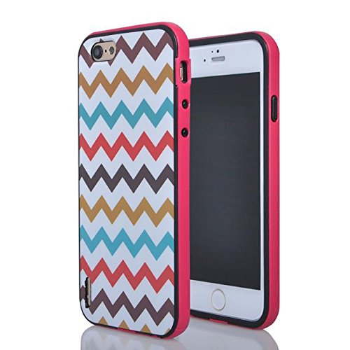 """(Case For Iphone 6/4.7 Inch) Bon Venu Newest 2 In 1 Bumper Defender Snug Fit Slim Hard Combo Protector Case Cover For Apple Iphone 6 4.7"""" Case+Screen Protector (Pattern 2) front-1054667"""