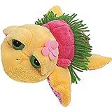Suki Gifts Li'L Peepers Tropical Turtles Hawaiian Turtle Soft Boa Plush Toy (Medium, Yellow/ Pink)