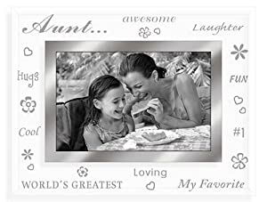 Malden Clear Expressions AUNT etched glass keepsake – 4×6