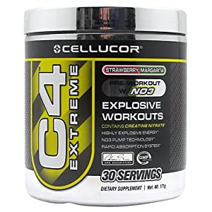Cellucor C4 Extreme Strawberry Margarita 30 Servings Pre-Workout Intensifier
