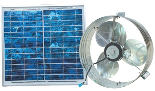 Ventamatic VX2515SOLUPS Solar Gable Attic Ventilator with 12.6-Watt 18-Volt DC Motor and 12.6-Watt Panel primary
