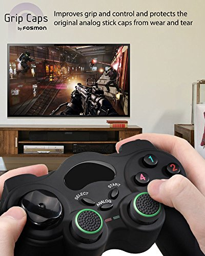 Fosmon [Set of 16] Analog Stick Joystick Controller Performance Thumb Grips for PS4   PS3   Xbox ONE   Xbox 360   Wii U - Assorted (Set of 16)