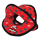 Tuffy Ultimate Series 4-Way Ring Toy, Red Paws