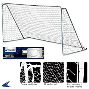 Buy Champro Steel Frame Soccer Goal (Blue White, 6 x 12-Feet) by Champro
