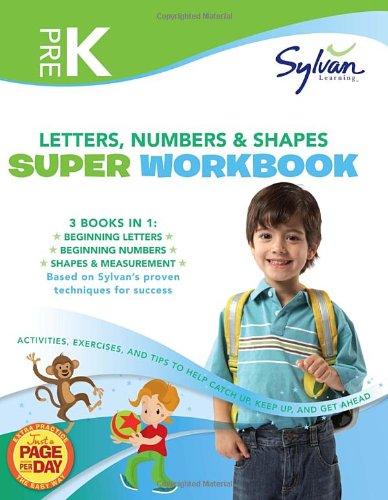 Pre-K Letters, Numbers & Shapes Super Workbook
