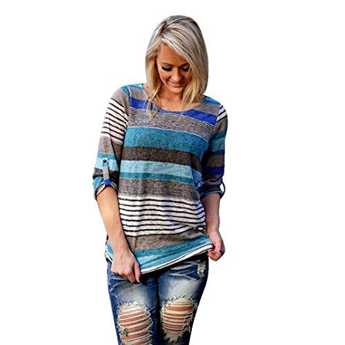 Usstore-Womens-Blouse-Fashion-Stripe-Ladies-Casual-Shirt-Tops
