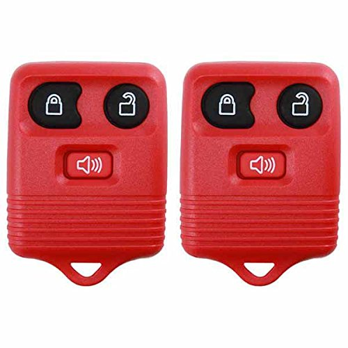 2 KeylessOption Red Replacement 3 Button Keyless Entry Remote Control Key Fob Clicker (2005 Ford Escape Key Fob compare prices)