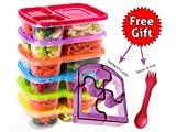 Best Kids Lunchboxes - [6 Pack] Bento Lunch Box 3 Compartment Food Review