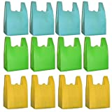 Reusable Grocery T-Sack Bag, Assorted Colors, 12 Pk Set