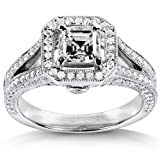 Diamond Engagement Ring 1 1/3 Carat in 14K White Gold (Certified)