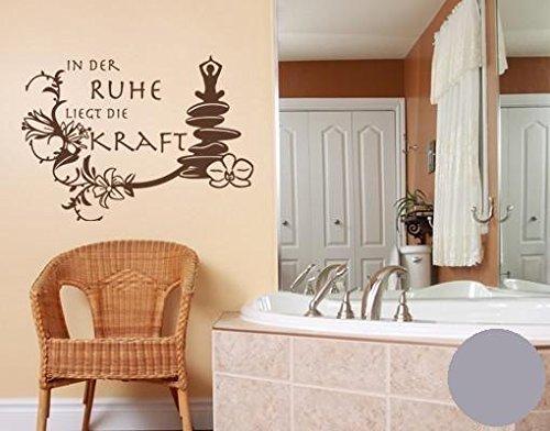 wandtattoo in der ruhe b x h 120cm x 86cm farbe silber erh ltlich in 35 farben und 5 gr en. Black Bedroom Furniture Sets. Home Design Ideas