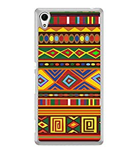 ifasho Animated Pattern colrful tribal design Back Case Cover for Sony Xperia M4 Aqua