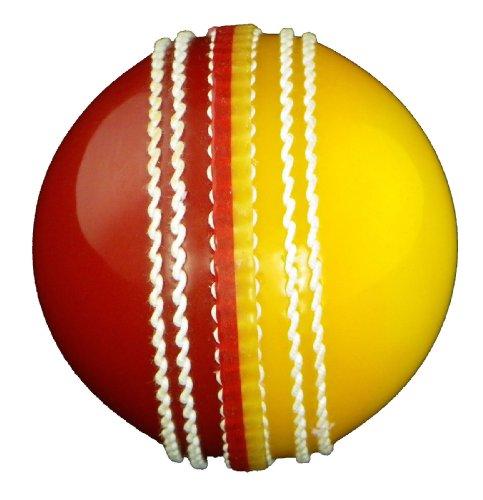 Upfront Opttium INCREDIBALL Training Cricket Ball - Yellow/Red - ADULT
