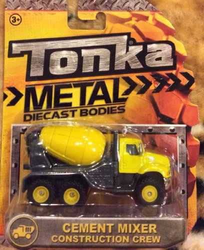Tonka Metal Diecast Bodies - CEMENT MIXER CONSTRUCTION CREW (YELLOW)