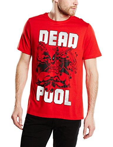 Marvel Deadpool Jump - T-shirt da uomo, rosso, M