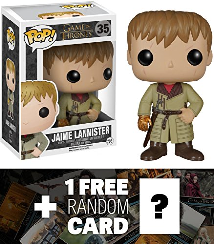 Jaime Lannister (Golden Hand): Funko POP! x Game of Thrones Vinyl Figure + 1 FREE Official Game of Thrones Trading Card Bundle [50696]