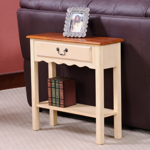Cheap Wave Console Table in Ivory (9021IV)
