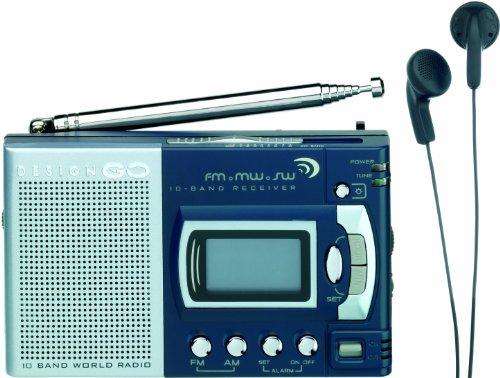 Design Go World Radio, Grey, One Size