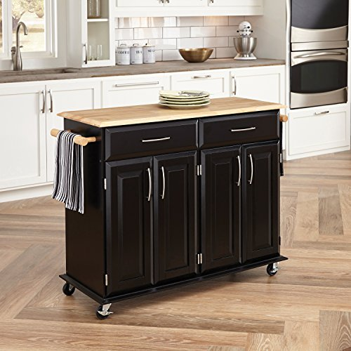 Home Styles 4528-95 Dolly Madison Kitchen Cart, Black Finish (Portable Kitchen Cart Island compare prices)
