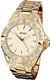 Seksy Intense Stone Set Gold Plated Stainless Steel Bracelet Ladies Watch 4232