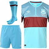 WEST HAM UNITED HOME KIT KIDS SHIRT SHORTS & SOCKS (WEST HAM AWAY KIT, XLB 32