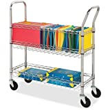Lorell Wire Mail Cart 84857