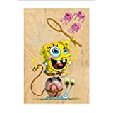 SpongeBob: Jellyfishin' with Gary Art Print