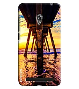 Omnam Downside Of Water Bridge Printed Designer Back Cover Case For Asus Zenfone 6 A600CG