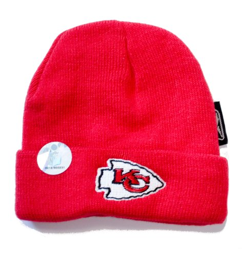 Kansas City Chiefs Licensed Cuffed Infant Toddler Red Beanie front-953854