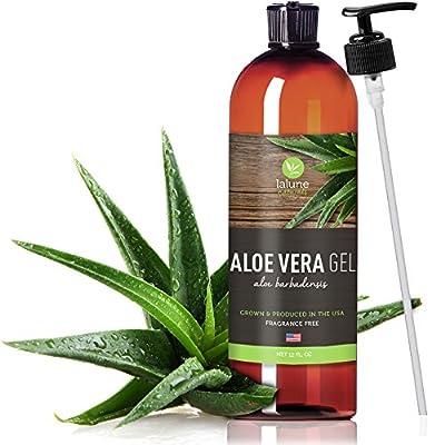 Aloe Vera Gel - 12 Oz - 99.75% Organic Aloe Vera Gel made from Certified Organic Aloe Vera Plant - FREE eBook 20 Recipes & Uses - 100% Pure Aloe Vera Gel for Sunburn, Face, Hair, Skin
