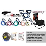 Ripcords Advanced Core Training Kit: Exercise Bands, Circuit 7 DVD's, Door Anchor, Exercise Ball, Travel Bag and Manualby Ripcords
