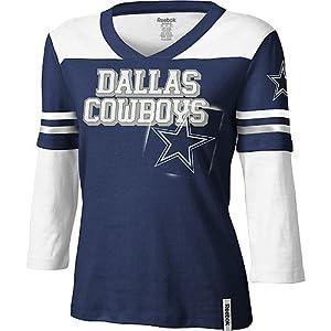 Dallas cowboys statement 3 4 sleeve ladies for Dallas cowboys fishing shirt