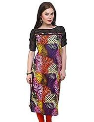 Pannkh Women's Cotton Tropical Print Kurti