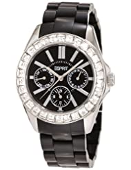 Esprit Dolce Vita Plastic Black Analog Black Dial Women's Watch ES105172005
