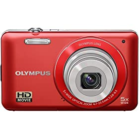 Olympus 228185 VG-120 Digital Camera (Red)